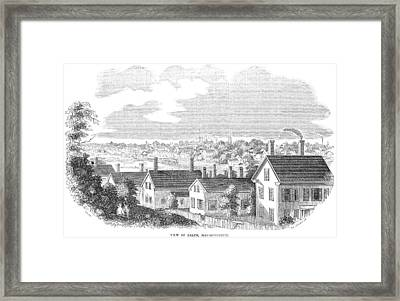 Framed Print featuring the painting Massachusetts Salem, 1854 by Granger