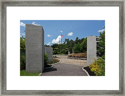 Massachusetts Vietnam Veterans Memorial Framed Print by Juergen Roth