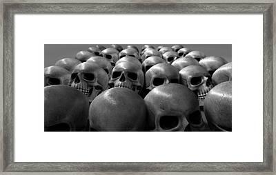 Massacre Of Skulls Framed Print