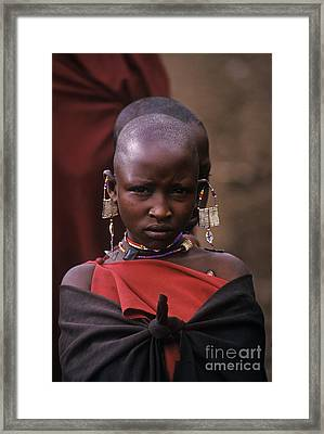 Massai Girl - Tanzania Framed Print by Craig Lovell