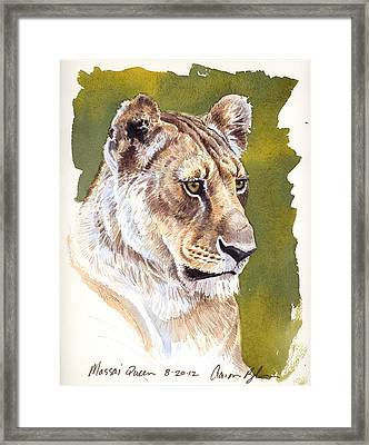 Massai Queen Framed Print by Aaron Blaise