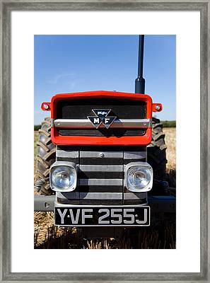 Massey Ferguson 135 Vintage Tractor Framed Print by Paul Lilley