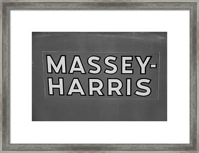 Massey Harris Framed Print