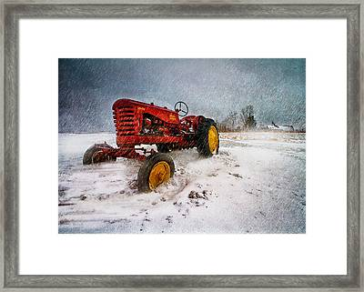 Massey Harris Mustang Framed Print by Bob Orsillo