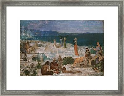 Massilia Greek Colony Framed Print by Pierre Puvis de Chavannes