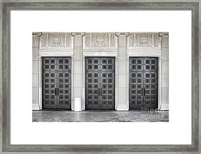 Massive Doors Framed Print by Olivier Le Queinec