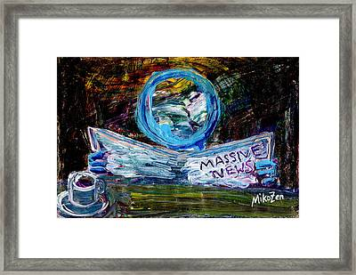 Massive News Framed Print by Art By Miko