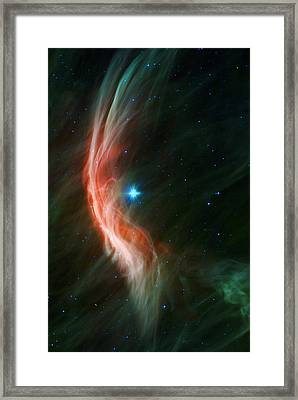 Massive Star Makes Waves Framed Print