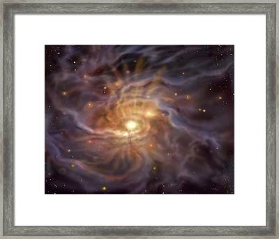 Massive Starbirth Region Framed Print by David A. Hardy