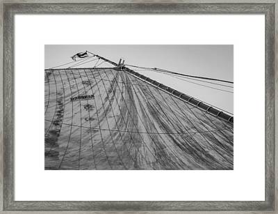 Mast And Sail I Framed Print by Marco Oliveira