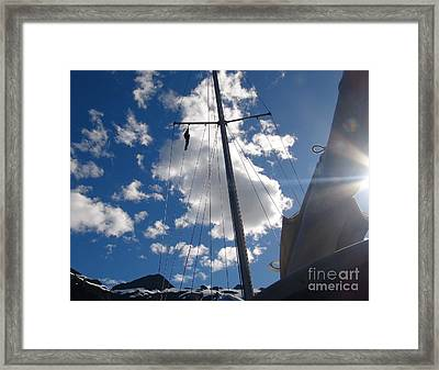Mast And Sky Framed Print by Laura  Wong-Rose