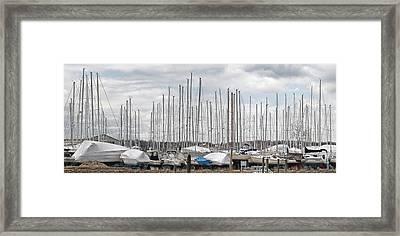 Glen Cove Mast Appeal Framed Print