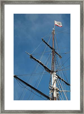 Mast Framed Print by Jean Booth