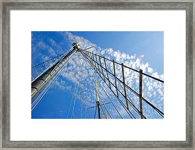 Framed Print featuring the photograph Masted Sky by Keith Armstrong