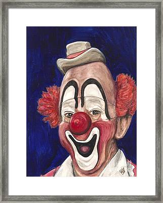 Watercolor Clown #3 Lou Jacobs Framed Print by Patty Vicknair