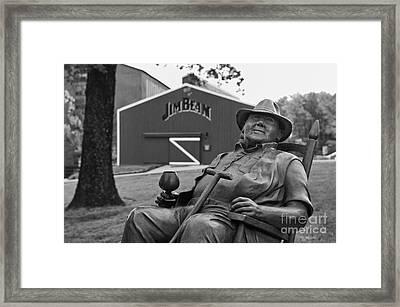 Master Distiller - D008301-bw Framed Print by Daniel Dempster