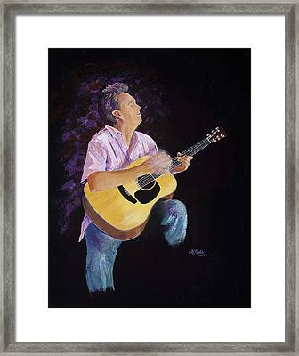 Framed Print featuring the painting Master In The Spotlight by Margaret Bobb
