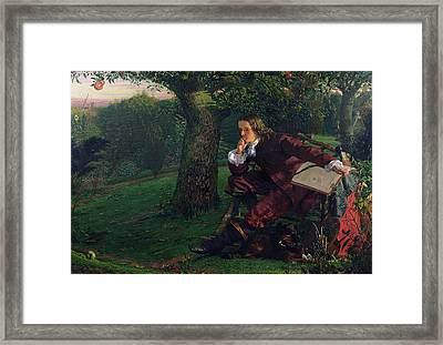 Isaac Newton Framed Print by Robert Hannah