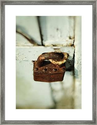 Master Lock Framed Print by Rebecca Sherman