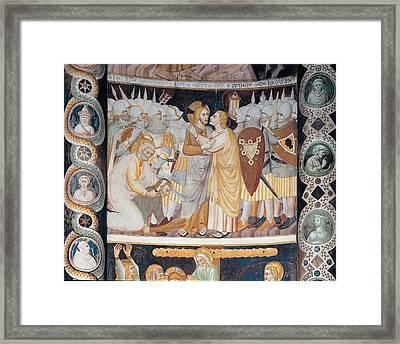 Master Of Santabbondio, Stories Framed Print by Everett