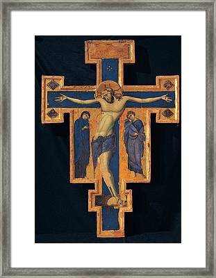 Master Of The Blue Crosses, Crucifix Framed Print by Everett