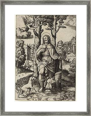 Master Of The Die After Follower Of Raphael Italian Framed Print by Quint Lox