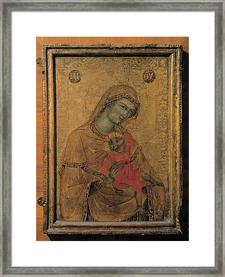 Master Of The Perugia Madonna, Madonna Framed Print by Everett