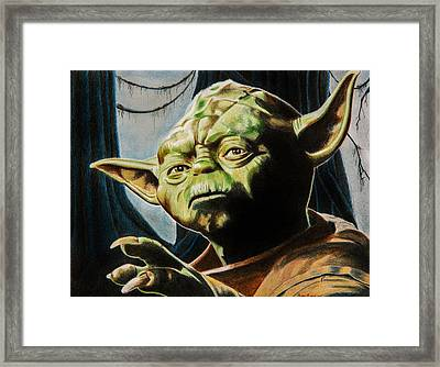 Master Yoda Framed Print by Brian Broadway