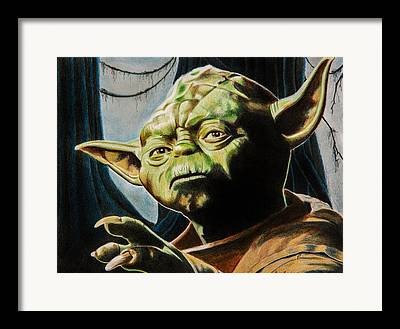 Science Fiction Drawings Framed Prints