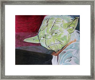 Master Yoda Framed Print by Jeremy Moore