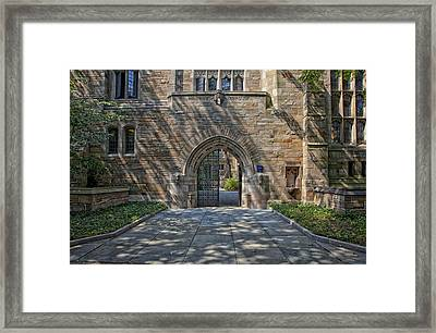 Master's House Gateway Trumbull College - Yale University  Framed Print