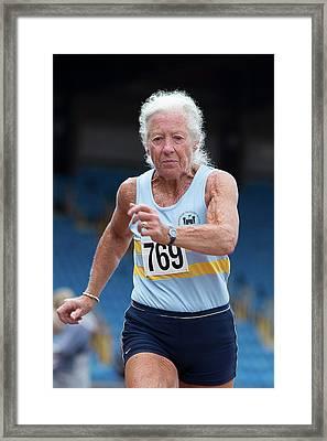 Masters Irish Athlete Dorothy Mclennan Framed Print by Alex Rotas
