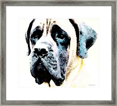 Mastif Dog Art - Misunderstood Framed Print by Sharon Cummings