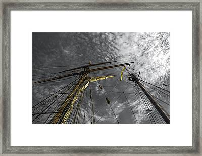 Masts And Rigging Framed Print