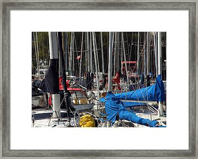 Masts Framed Print by Jim Nelson