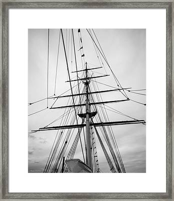Framed Print featuring the photograph Masts Of The Cutty Sark by Ross Henton