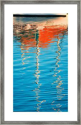 Masts Showing Off Framed Print by Joan Herwig
