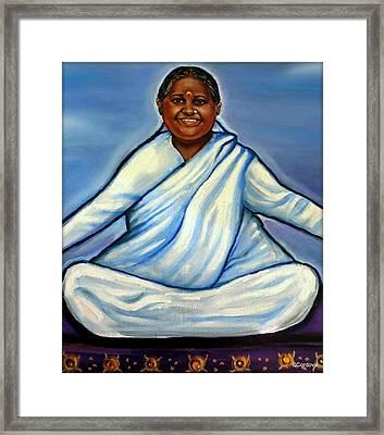 Mata Amritanandamayi Framed Print by Carmen Cordova
