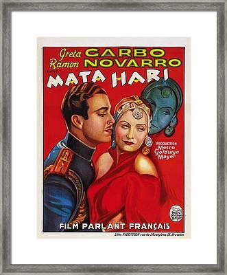 Mata Hari, Ramon Navarro, Greta Garbo Framed Print by Everett