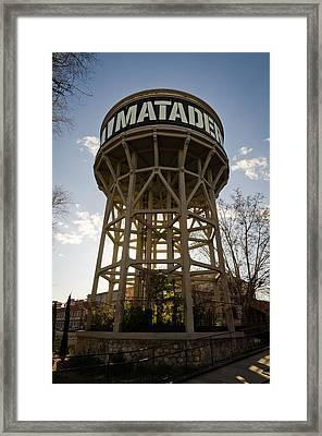 Matadero Water Tank Framed Print by Pablo Lopez