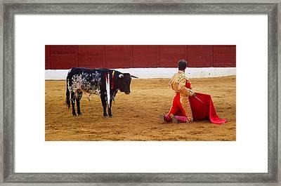 Matador Kneeling  Framed Print by Dave Dos Santos