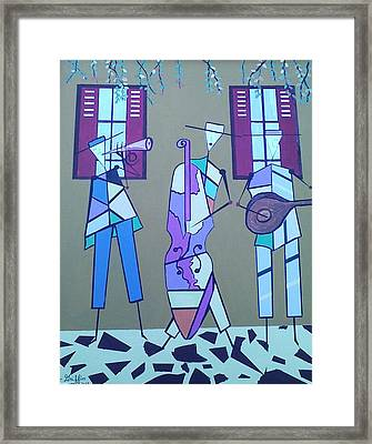 Matadores Of Music Lll Framed Print by Lew Griffin