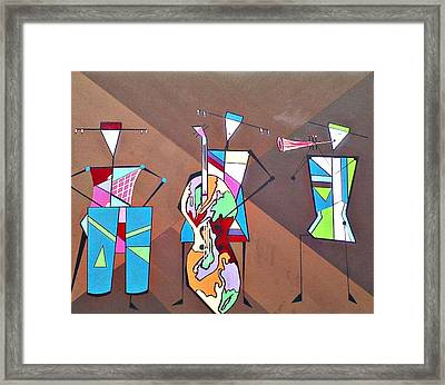 Matadors Of Music II Framed Print by Lew Griffin