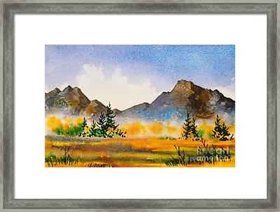 Framed Print featuring the painting Matanuska Autumn by Teresa Ascone