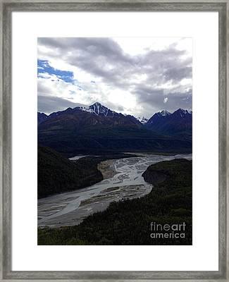 Framed Print featuring the photograph Matanuska River by J Ferwerda