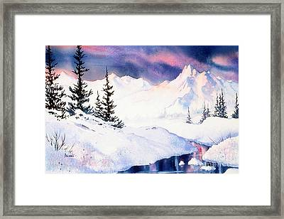 Framed Print featuring the painting Matanuska Sunset Impression by Teresa Ascone