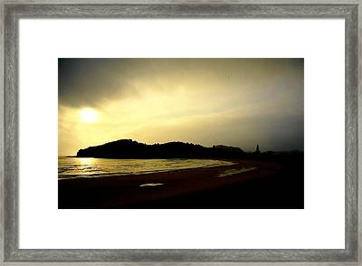 Matapouri At Sunrise Framed Print