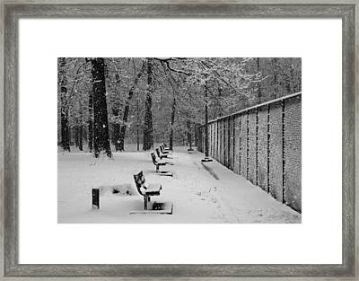 Framed Print featuring the photograph Match Called For Snow by Andy Lawless