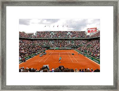 Match Point Framed Print by Alexi Hoeft
