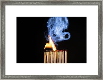 Matches Igniting Framed Print
